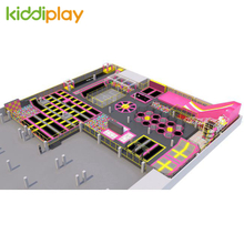 KD11045A Spider Tower Ninja Course Slam Dunk Area Scream Slide Foam Pit Climbing Wall Zip Line Jumping Trampoline Park Center