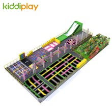 KD11053A Ninja Course Parkour Climbing Wall Spider Tower Beam Battle Russian Roulette Professional And Free Jump Center Children Large Indoor Trampoline Park