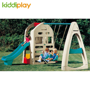 Combination Colorful Plastic Play Toy Slide And Swing Indoor Playhouse for Kids