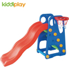 KiddiPlay Children's Plastic Play Toy Slide And Swing With Basketry