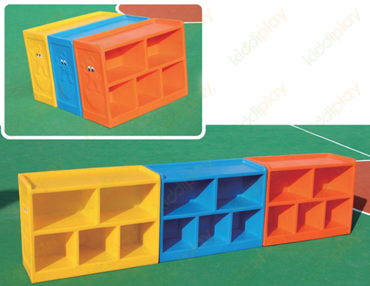 Factory Wholesale Simple Designs Children Plastic Toy Shelf