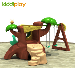 Simulation Plastic Warrior Tree Slide And Swing For Children