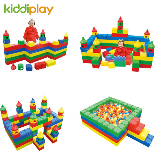 High Quality Fun Kids Blocks, Colorful DIY Building Block, Kids Educational Plastic Blocks for baby